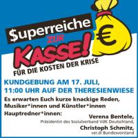 Aufruf zur Kundgebung am 17. Juli auf der Theresienwiese