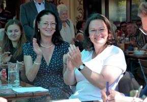 Andrea Nahles und Claudia Tausend
