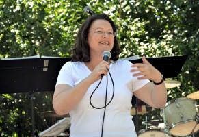 Kämpferische Rede in Bogenhausen: Bundesministerin Andrea Nahles