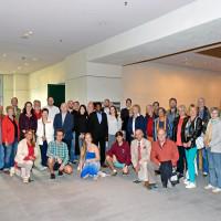 Besuchergruppe aus München im Deutschen Bundestag. Bildnachweis: Bundesregierung / Atelier Schneider