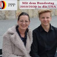 Claudia Tausend, MdB und Austauschschüler Leopold Löffler